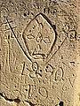 Historisches Graffito im Ġgantija-Tempel Nov 2014.JPG