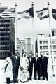 Hoisting Kuwait's flag outside the United Nation's building in 1963.png