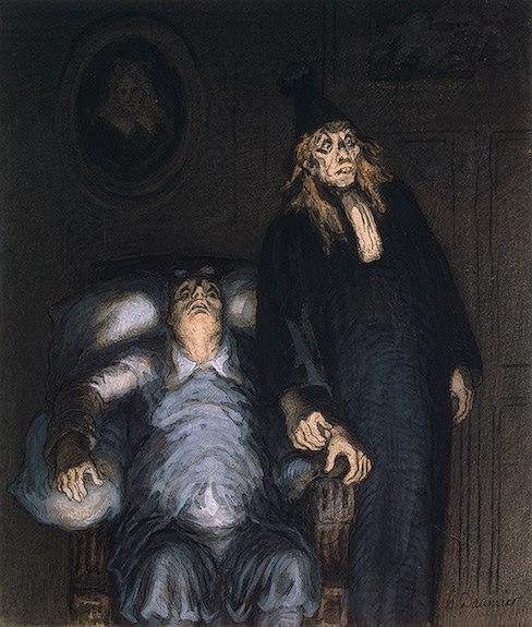 Honoré Daumier - Der eingebildete Kranke
