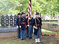 Honor guard before dismissal at the dedication ceremony for the grave marker of J. R. Kealoha.jpg