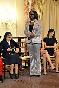Honoree Jestina Mukoko of Zimbabwe Stands (4425068755).jpg