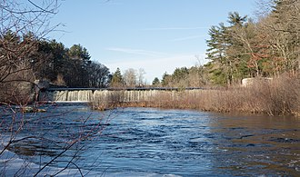 Scituate, Rhode Island - The Hope Dam on the Pawtuxet River