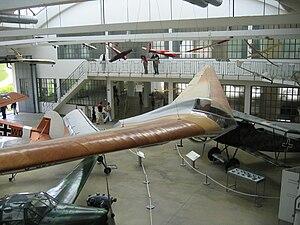 Horten brothers - Horten Ho IV flying wing sailplane recumbent glider at the Deutsches Museum