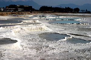 Mineral spa - Hot springs of Pamukkale (Turkey).