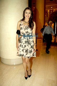 Hrishitaa Bhatt at the success party of Marathi film 'Sairat'.jpg