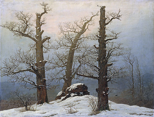 Huenengrab im Schnee (C D Friedrich)