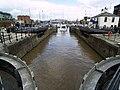Hull Marina Lock from its South Gates - geograph.org.uk - 841524.jpg