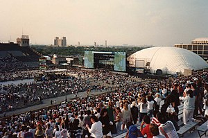 John F. Kennedy Stadium (Philadelphia) - JFK Stadium holding one of Amnesty International's Human Rights Now! concerts. September 19, 1988.