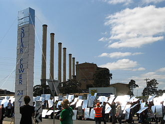 Hazelwood Power Station - The replica Solar Thermal plant at the 2010 rally.