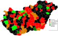 Hungarian Wikipedians Subregions 2010 August.PNG