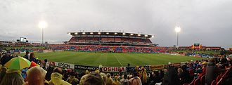 Newcastle International Sports Centre - Hunter Stadium during the 2015 AFC Asian Cup semi-final between Australia and the UAE.