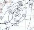 Hurricane Freida analysis 25 Sep 1957.png