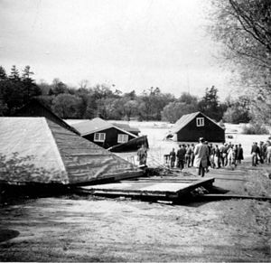Effects of Hurricane Hazel in Canada - Damage as a result of Hazel was already being assessed the following morning.