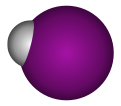 Spacefill model of hydrogen iodide
