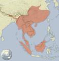 Hystrix brachyura distribution map.png