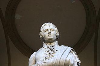 Pietro Verri - Detail of Pietro Verri monument in Milan.