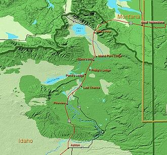 Henrys Fork (Snake River tributary) - Image: IP Place Names