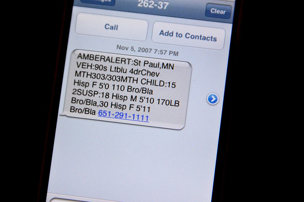 IPhone Text Message Amber Alert 1882467856 o