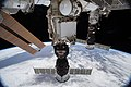 ISS-54 Soyuz MS-07 crew ship and Progress MS-07 cargo craft docked to ISS.jpg
