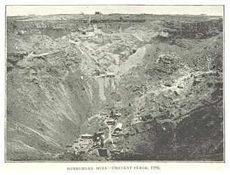 Francis Oats - The Big Hole (Kimberley Mine) in 1886