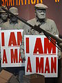 I Am a Man - Diorama of Memphis Sanitation Workers Strike - National Civil Rights Museum - Downtown Memphis - Tennessee - USA.jpg