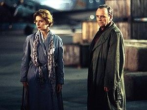 The Innocent (1993 film) - Rossellini and Hopkins on location at Berlin Tempelhof Airport