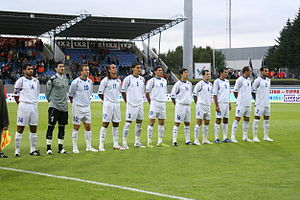 Azerbaijan national football team - Azerbaijani squad in 2008.