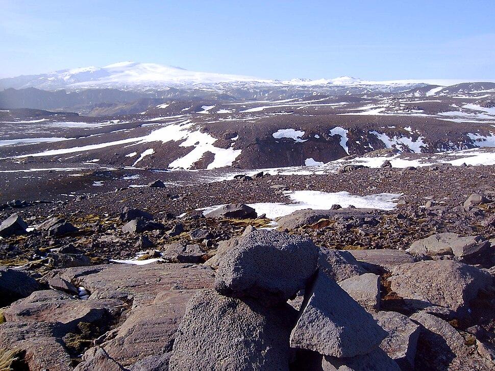 Iceland Eyjafjallajökull from Sólheimajökull