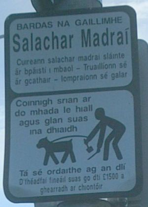 A sign in Irish in County Galway
