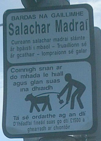Connacht Irish - An Irish-language sign in County Galway
