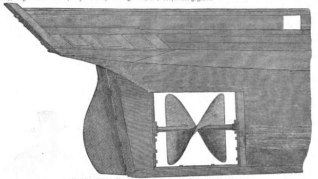 Illustrirte Zeitung (1843) 21 335 1 Archimedische Schraube des Dampfschiffes Archimedes