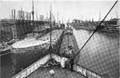 Image of lake freighters from Curwood's 1909 The Great Lakes, note whaleback freighter -ak.png