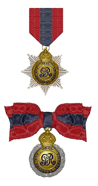 Imperial Service Order - ISO as worn by gentlemen (above) and ladies (below)