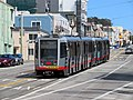 Inbound train at Taraval and 30th Avenue (2), September 2018.JPG
