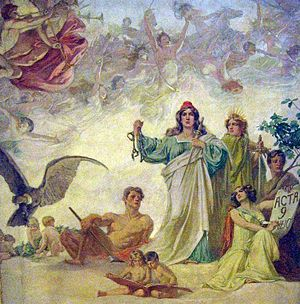 Argentine Declaration of Independence - Allegory of the Declaration of Independence, by Luis de Servi.