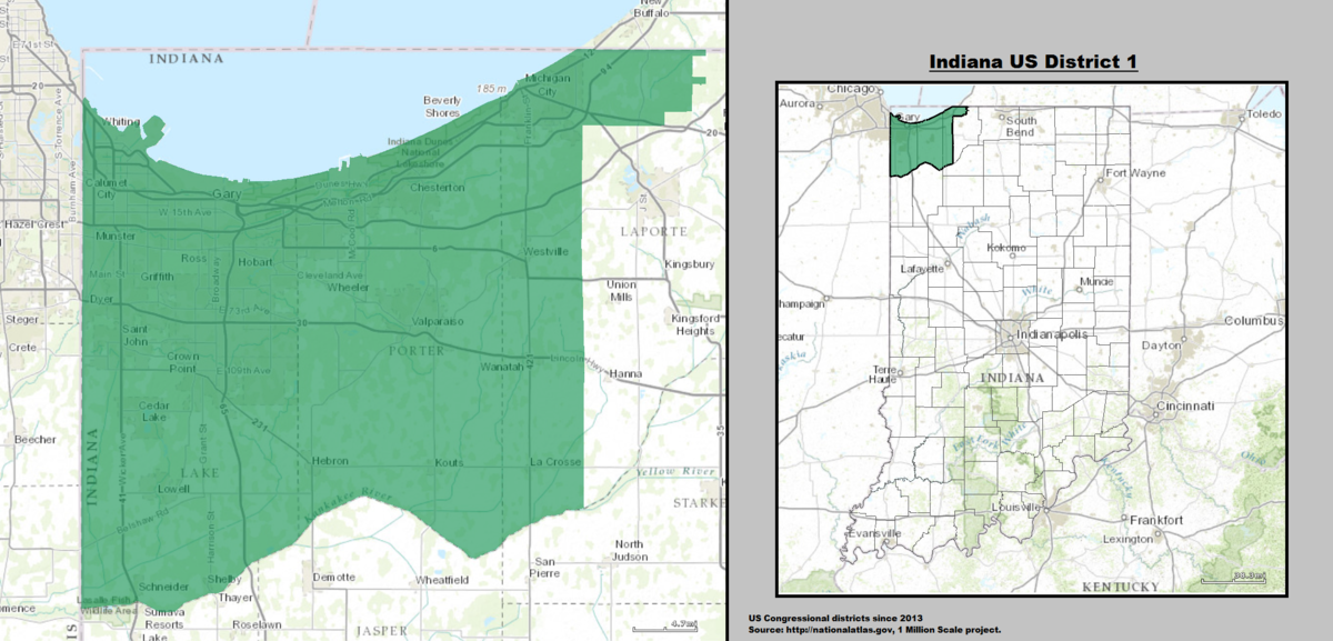 A comparison on two first congressional district representative of indiana