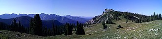 Indian Peaks Wilderness - View SE from the saddle between Hiamovi Mtn. and Mt. Irving Hale.