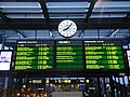 Information board at Malmö Centralstation - Departures and arrivals.jpg