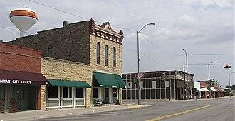 Inman, Kansas - Main Street in Inman (2012)