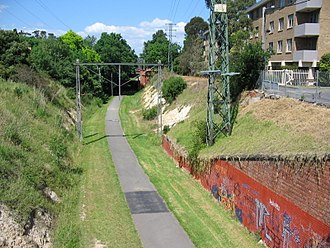 Inner Circle railway line - A section of the Inner Circle line between Royal Parade and The Avenue, Parkville.