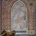Interieur, overzicht van schildering van de engel Gabriël als onderdeel van de Annunciatie oftewel Maria Boodschap in nis - Oosterhout - 20378209 - RCE.jpg