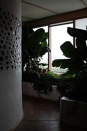 Interior Jacobsen House Earthship Botanical Cell 2009