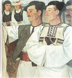 """Ion Theodorescu-Sion - Țărani din Abrud (""""Peasants of Abrud"""", ca. 1913)"""