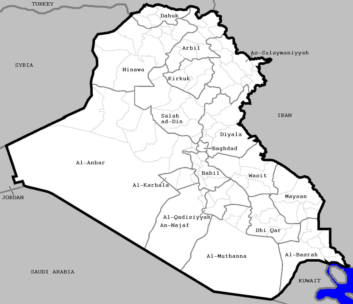districts of iraq wikipedia
