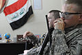Iraqi National Police Officer meeting in Baghdad, Iraq DVIDS164284.jpg