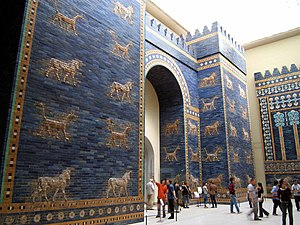 City gate - The Ishtar Gate in the Pergamon Museum in Berlin