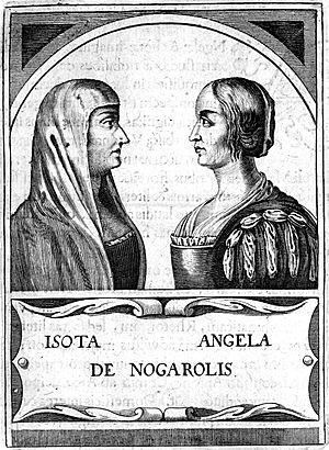 Isotta Nogarola - Depiction of Isotta Nogarola with her aunt, poet Angela Nogarola