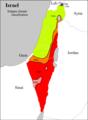 Israel map of Köppen classification.png
