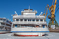 Ivan Bunin in Winter at Moscow North River Port Stern View 10-feb-2015.jpg