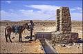 Izvlačenje vode iz bunara - Između Ghardaie i El Golee 25. travnja 1985. Voda je slankasta i prljavo žuta..jpg